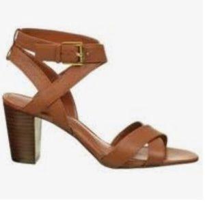 Ralph Lauren block heel leather sandals